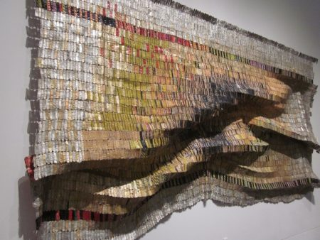 Woven Wall Sculpture by African Artist El Anatsui