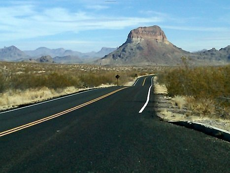 Big Bend - on the road