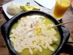 Ajiaco soup in Bogota Colombia - try this tasty and popular soup of Bogota Colombia