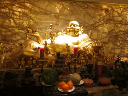 Smiling Buddha at Wahaha Hotel in Beijing