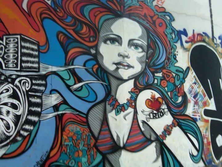 Rio Street Art in Ipanema, Rio de Janeiro