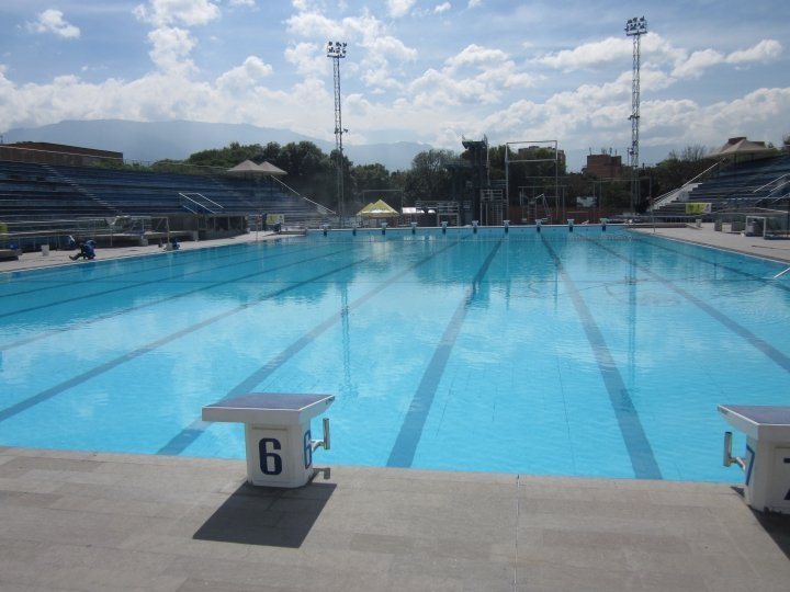 Olympic size lap pool in Medellin Colombia at Atanasio Girardot Sports Complex