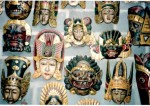 Hand carved masks - Bali, Indonesia