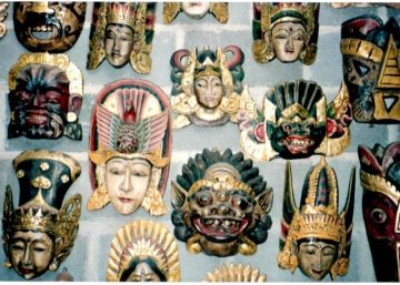 Hand carved masks - Bali, Indonesia