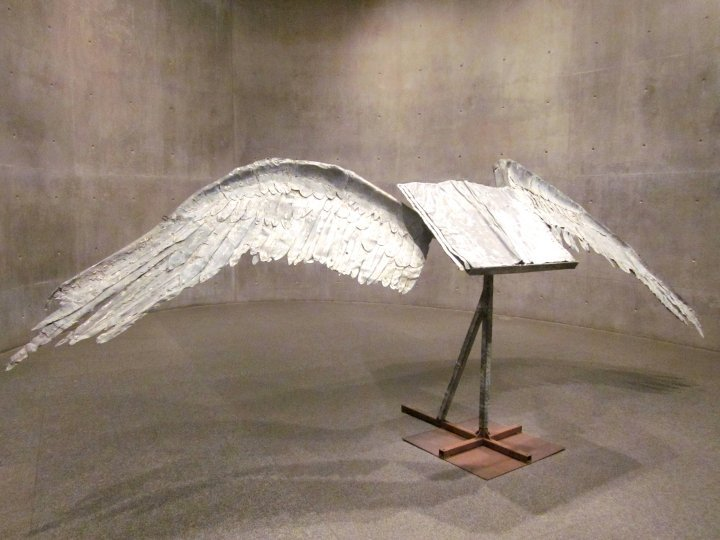 Modern Art Museum of Fort Worth sculpture by Anselm Kiefer entitled Book with Wings