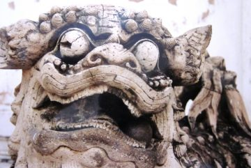 Lion carving - Wat Pho in Bangkok, Thailand