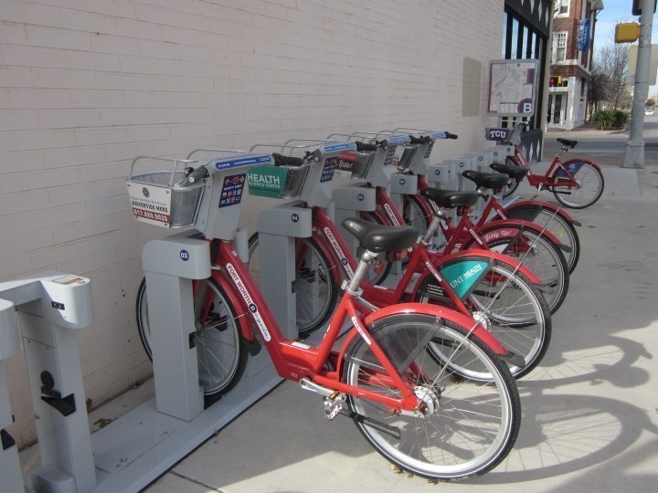 B-Cycle - bicycles on Magnolia Street