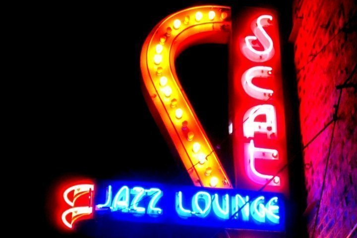 Fort Worth, Texxas Scat Jazz Lounge neon sign