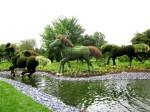 Mosaiculture - Horses - Mother Earth - Montreal Quebec