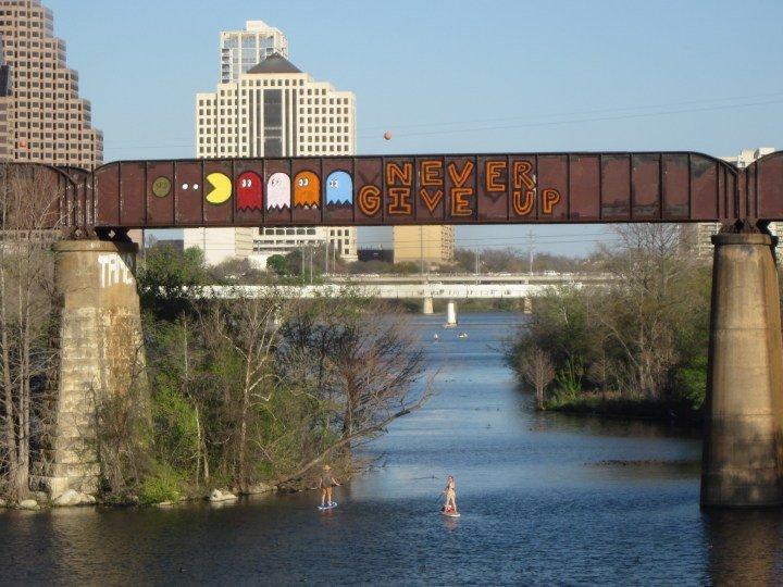 Street Art - Austin, TX - Never Give Up