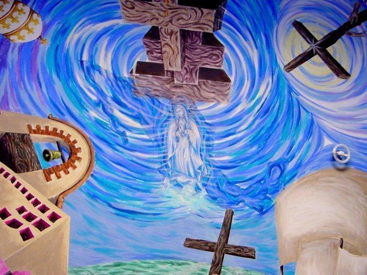 Huatulco - La Crucecita - mural detail
