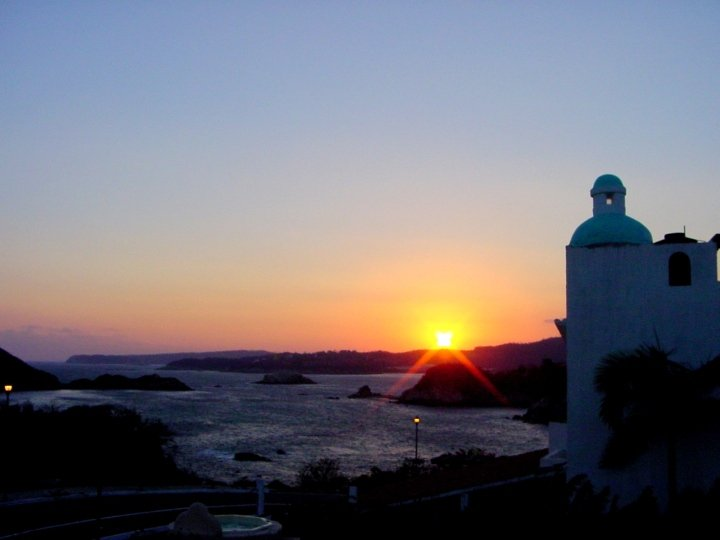 Sunset in Huatulco Oaxaca Mexico