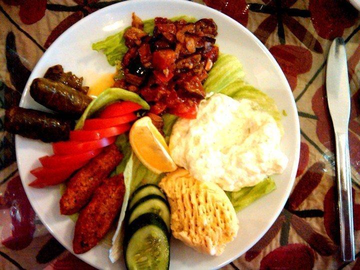 Meze platter - Istanbul Turkey