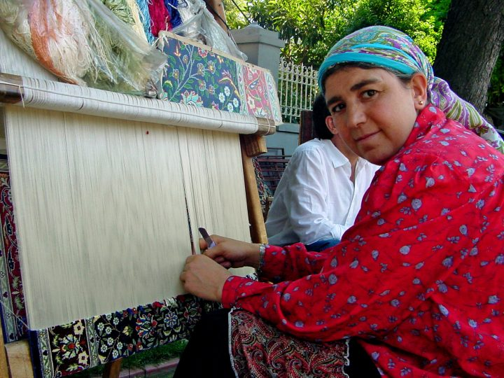 Weaving Silk - Istanbul Turkey Sultanahmet historical district