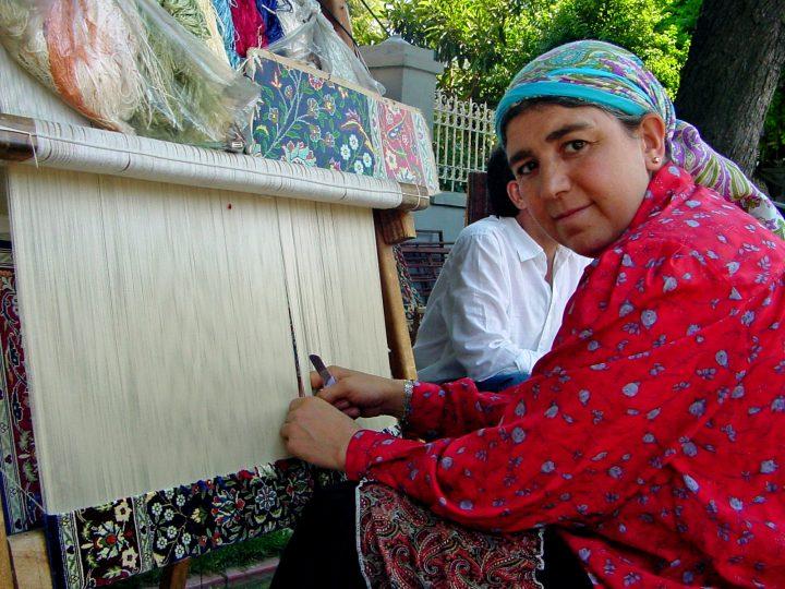 Weaving Silk - Istanbul Turkey Sultanahmet historical district