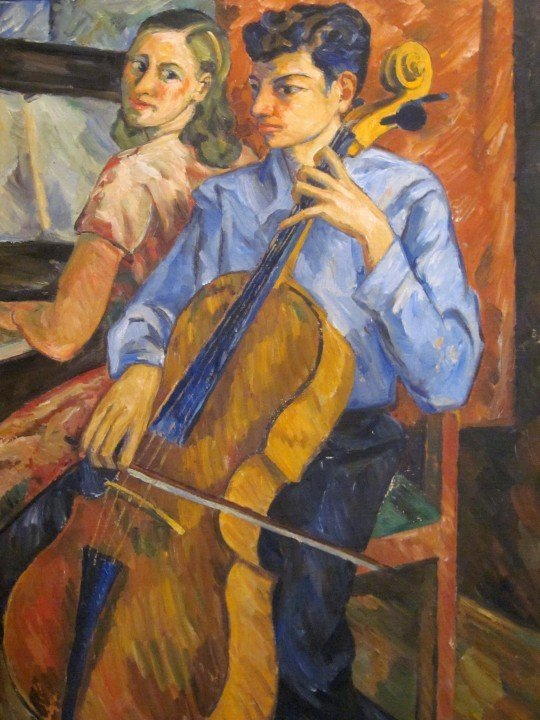Children playing piano and cello - Pedro Nel Gomez - Medellin Colombia