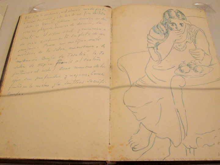 Sketch and diary notes of Pedro Nel Gomez - Medellin Colombia