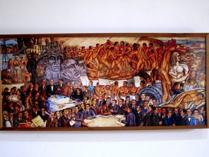 Photo of mural La Republica by Pedro Nel Gomez - Medellin Colombia - Casa Museo Pedro Nel Gomez