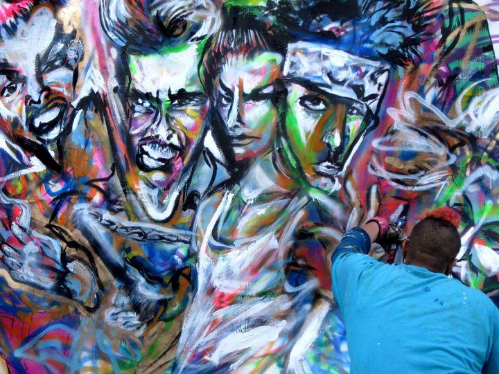 SXSW 2014 - Artist Chris Rogers Painting Canvas