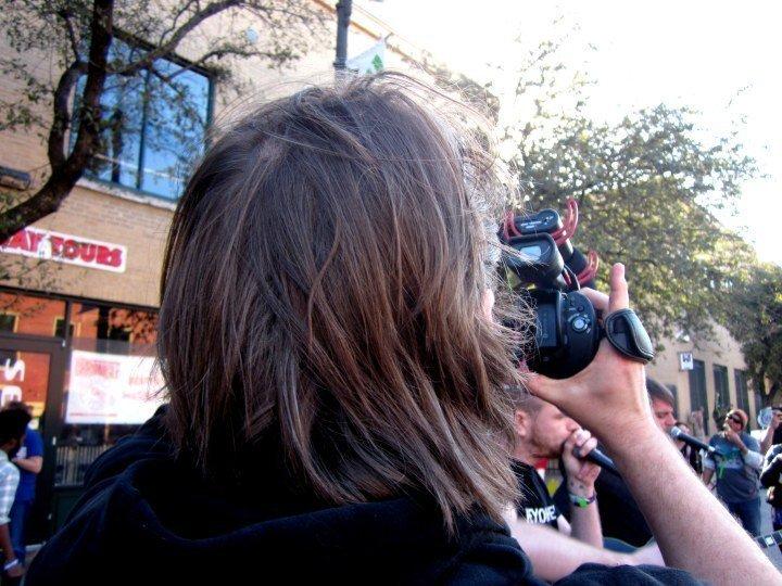 SXSW - back of jackass dude's head