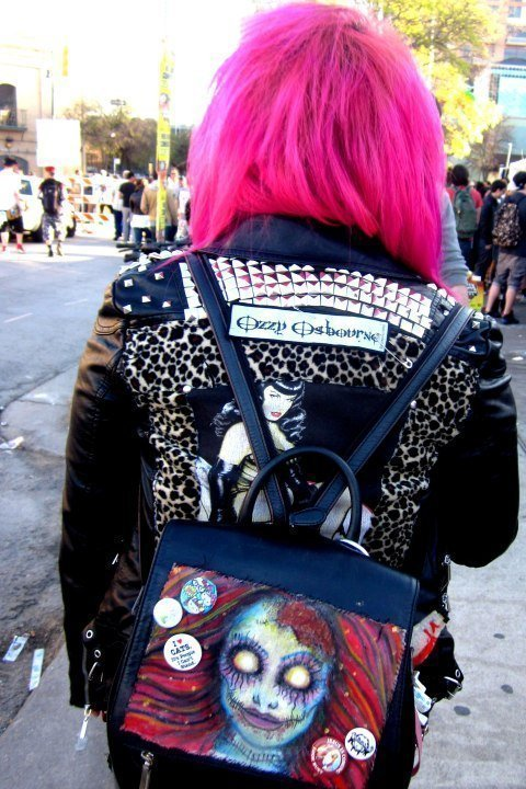 Pink hair popular at SXSW - Austin Texas