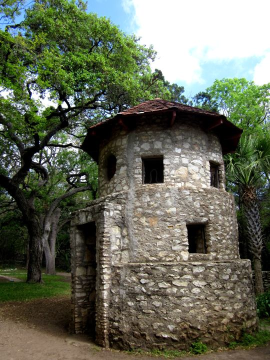 Pigeon cote at Mayfield Park on 35th St in Central Austin