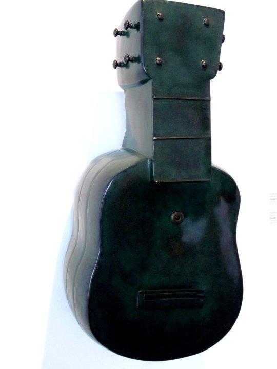 Ceramic Guitar by Fernando Botero at Popular Tourist Attraction Museo de Antioquia