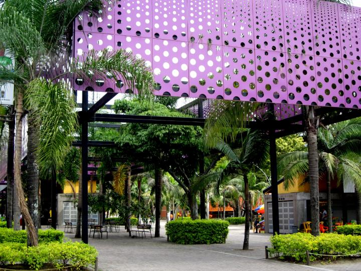 Park and walkway in Estadio sports complex - Medellin Colombia