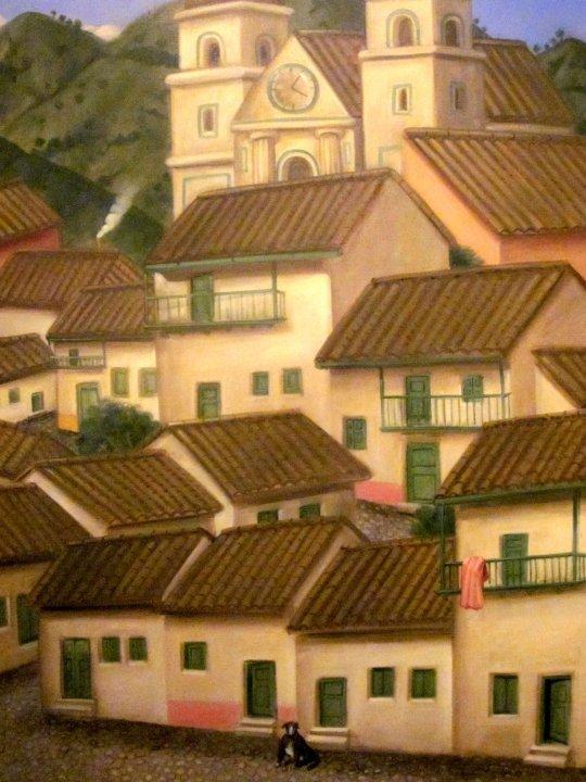 Barrio (Neighborhood) by Fernando Botero - Museo de Antioquia - Medellin Colombia