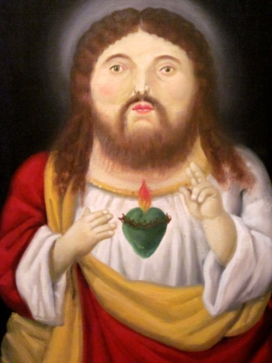 Jesus - Painting by Colombian Artist Fernando Botero - Museo de Antioquia in Central Medellin Colombia - Modern Art and Large Collection of Botero's Art