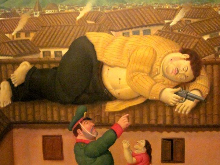 Pablo Escobar is Dead by Colombian artist Fernando Botero