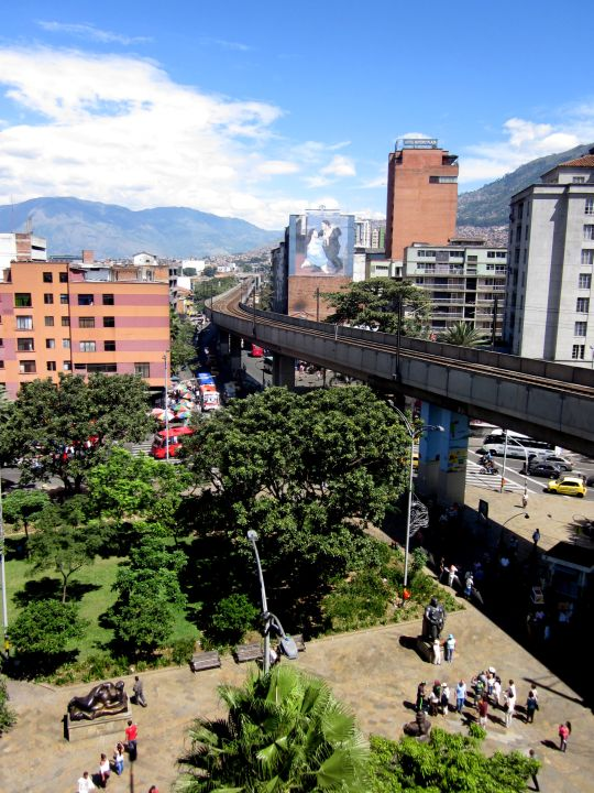 Plaza Botero - view from Palace of Culture - Popular Tourist Attractions in Medellin