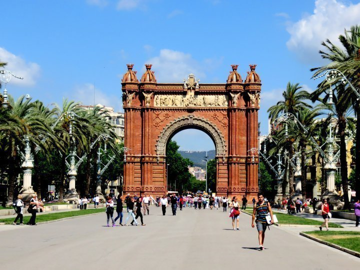 Solo Travel Barcelona - Visit the Arc de Triomf in La Ribera district of Barcelona Catalonia Spain - built for the main gate to the 1888 World's Fair in Barcelona