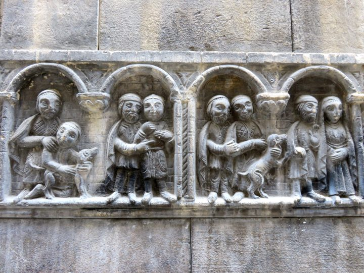 La Ribera district Barcelona - beautiful details in the architecture - Barcelona Spain