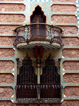 Catalan architect Antoni Gaudi's Casa Vicens in Gracia district of Barcelona Catalonia Spain