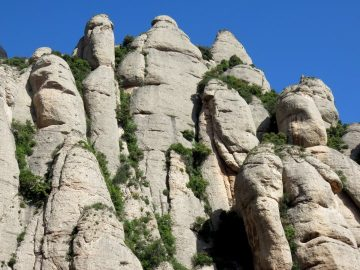 Mountain view at Montserrat - Monastery and hiking trails one hour from Barcelona Catalonia Spain