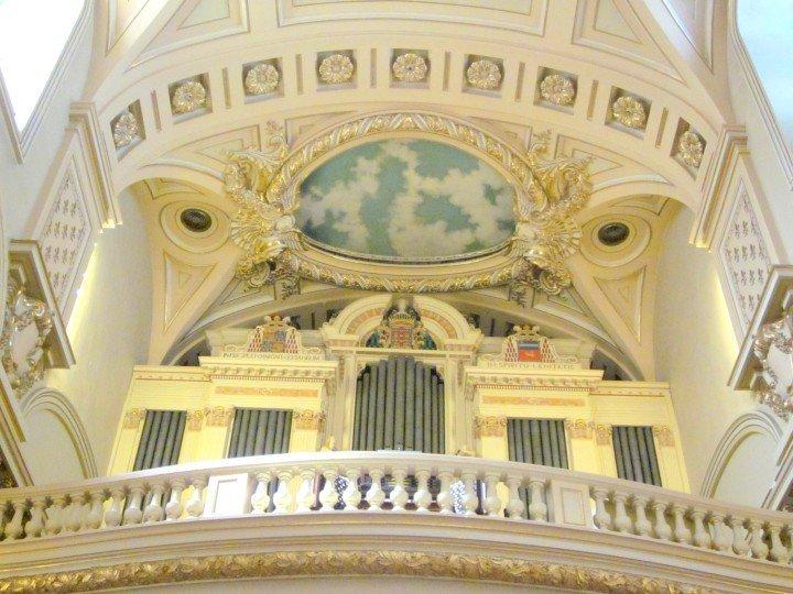 Pipe organ at Notre Dame de Quebec Basilica-Cathedral - designated National Historic Site of Canada