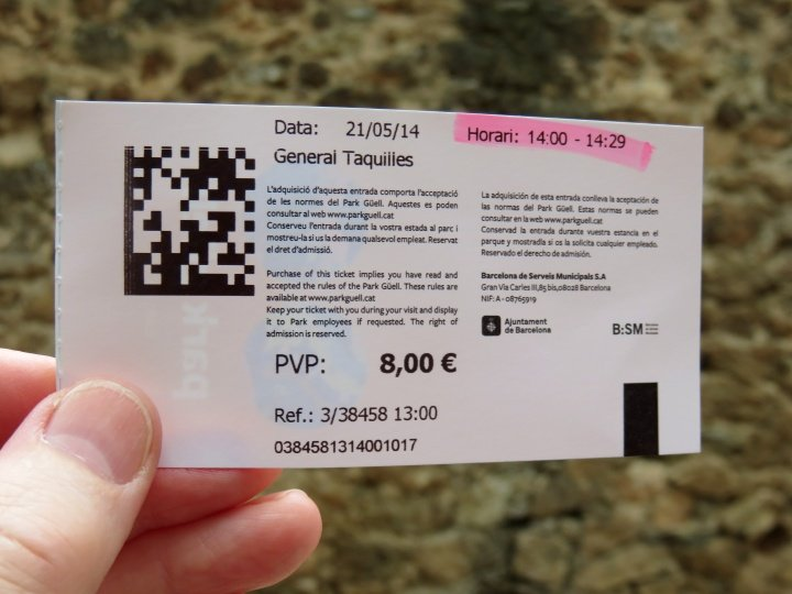 Park Guell tickets sold in advance - Antoni Gaudi designed for Eusebi Guell