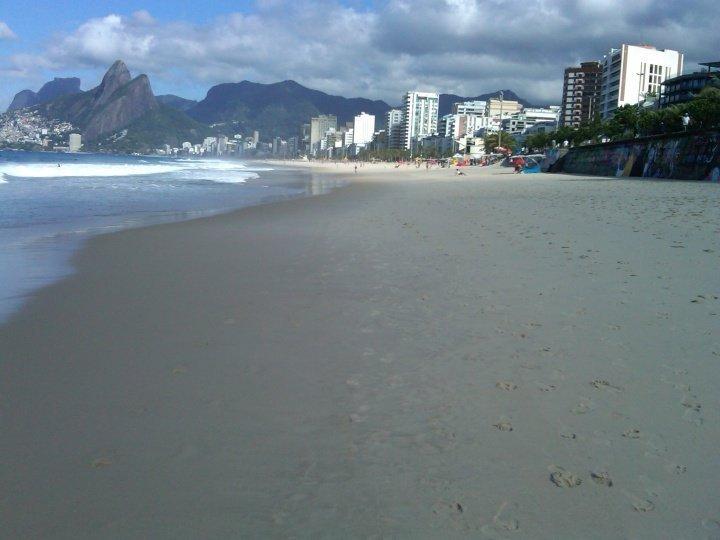 Ipanema beach in Rio de Janeiro - a short walk to the km long Copacabana beach