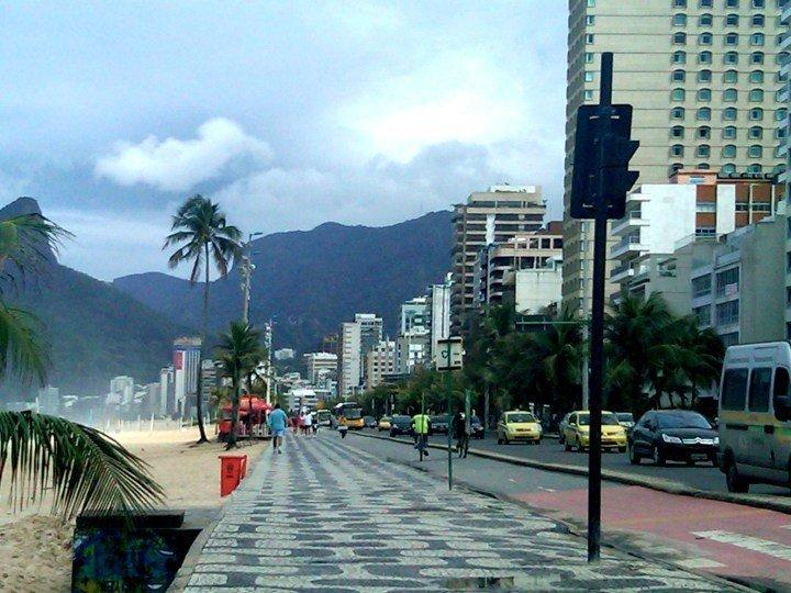 Beach promenade - Ipanema neighborhood in Rio de Janeiro Brazil