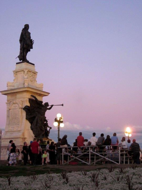 Samuel de Champlain Promenade overlooks the St Lawrence River in historic Old Quebec