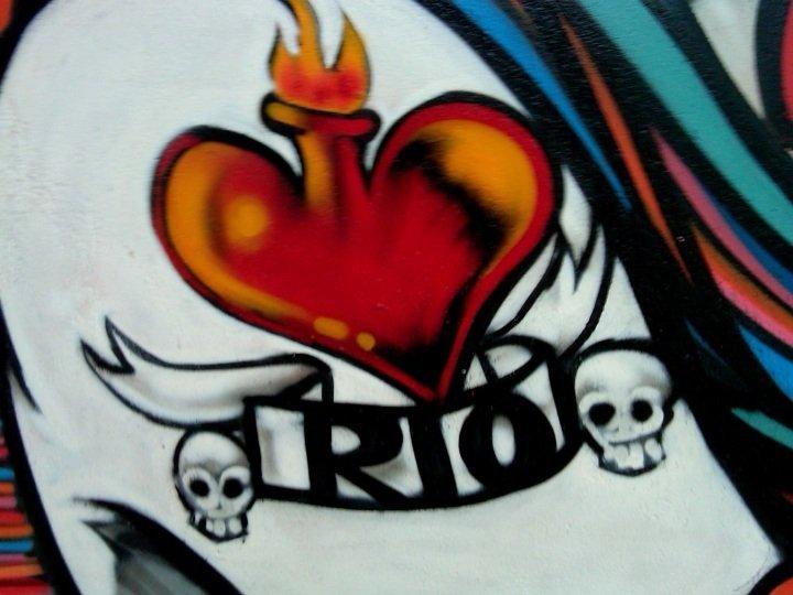 Rio tattoo - Street Art in Ipanema neighborhood of Rio de Janeiro Brazil