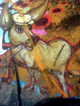 Chihuahua - Street Art along Copacabana Beach in Rio de Janeiro Brazil