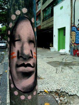 Street Art in Ipanema neighborhood - Rio de Janeiro Brazil