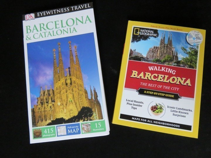 My Barcelona travel guides from NatGeo - Walking Barcelona - the Best of the City and Eyewitness Travel - Barcelona & Catalonia