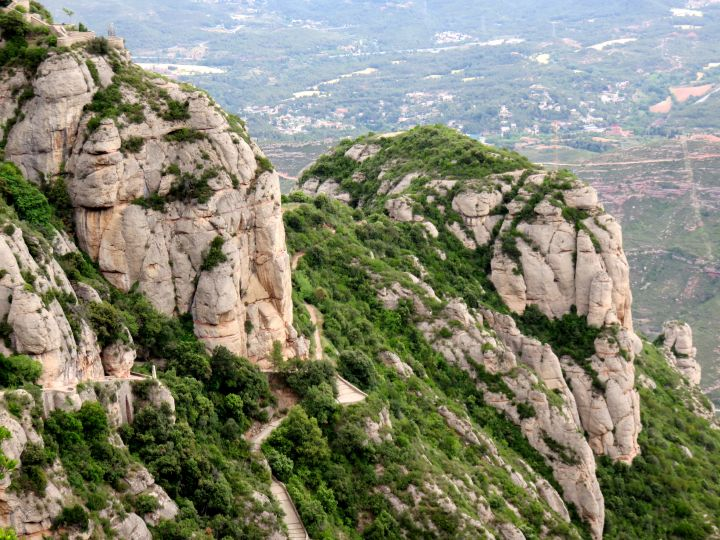 Hiking and enjoying nature at Montserrat - one hour from Barcelona Spain - great day trip