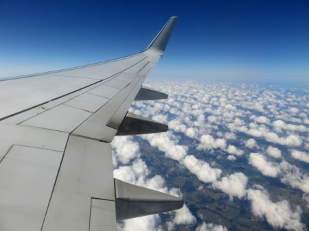 Cotton Clouds – Leaving Austin for Barcelona via New York