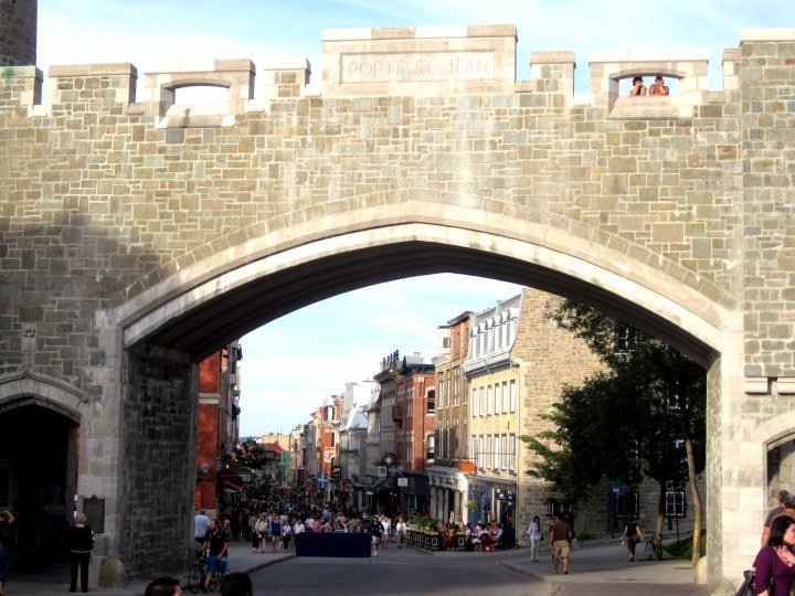 Old City walls in Quebec Canada - UNESCO World Heritage Site