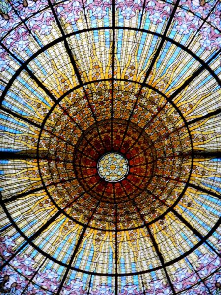 Stained Glass in Barcelona Spain – Palau de la Musica