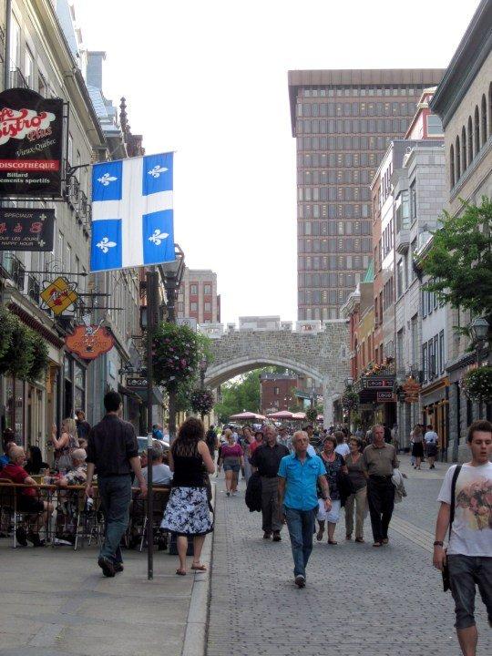 Street scene in historic Old Quebec City Canada